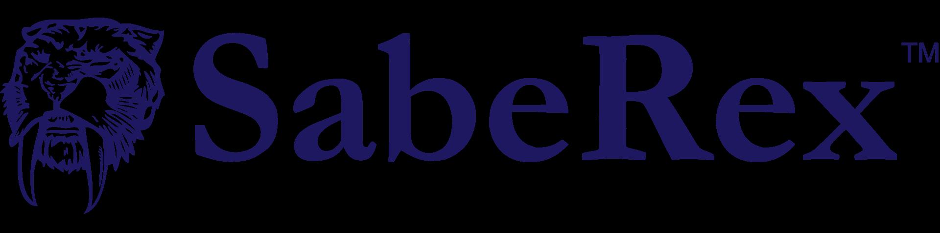 SabeRex Logo: Horizontal